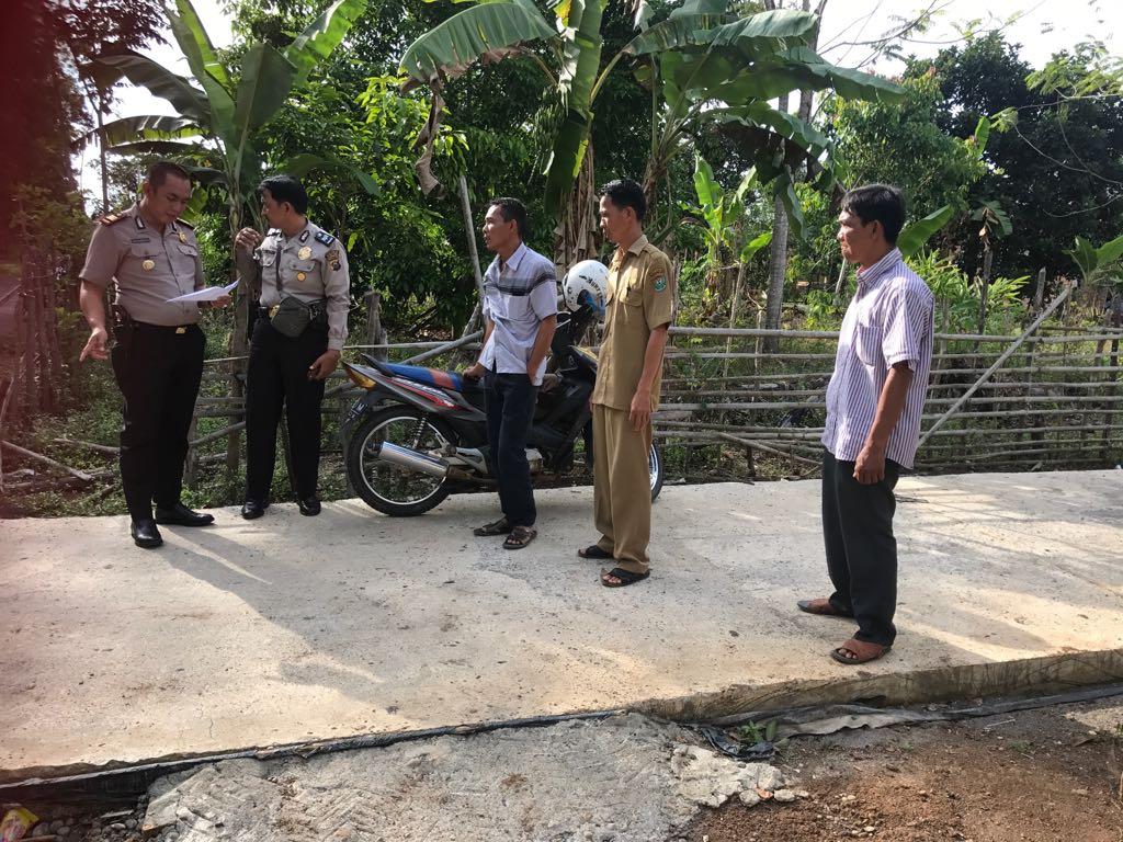 Polsek Gunung Megang Monitoring Dana Desa Kecamatan Ujanmas