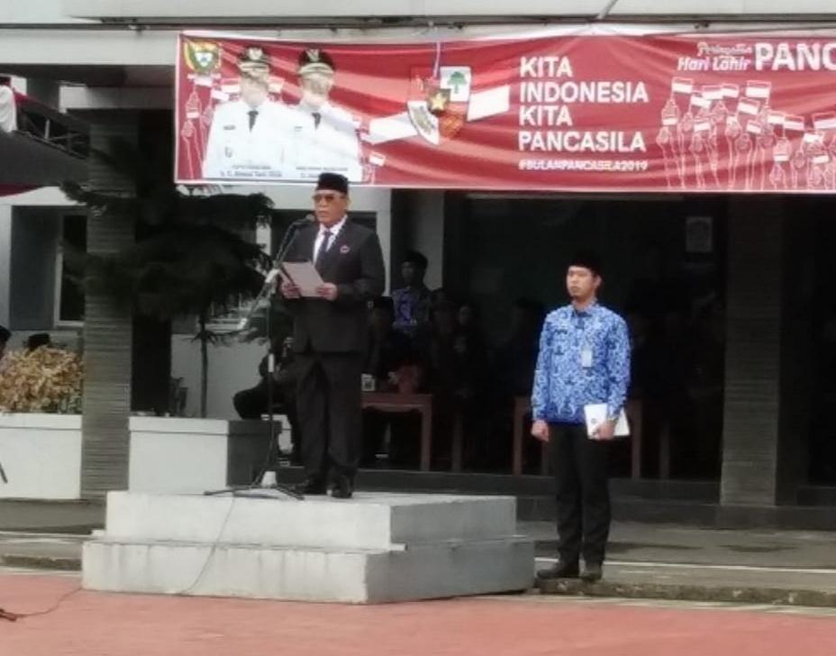 Bupati Muara Enim Inspektur Upacara Hari Lahir Pancasila