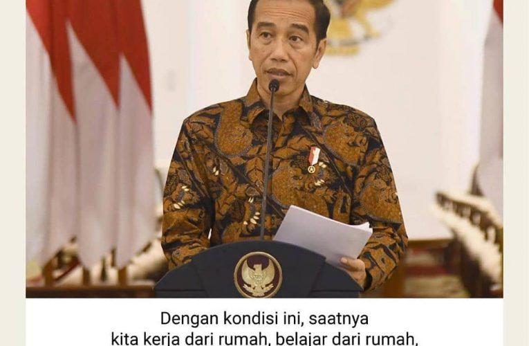 Mari semua yang di Jakarta ikut melaksanakan arahan Presiden @jokowi: kerja dari rumah.