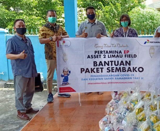 Pertamina EP (PEP) Asset 2 Berikan Sembako Jurnalis di Muara Enim