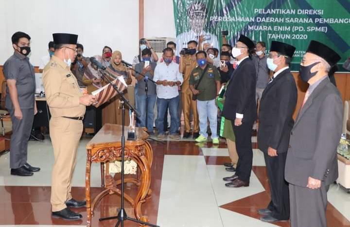 Plt Bupati Muara Enim Lantik Direktur Utama Perusda Sarana Pembangunan