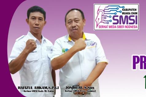 Pelantikan Pengurus SMSI Muara Enim bakal dihadiri Seluruh Ketua SMSI Se-Sumatera Selatan