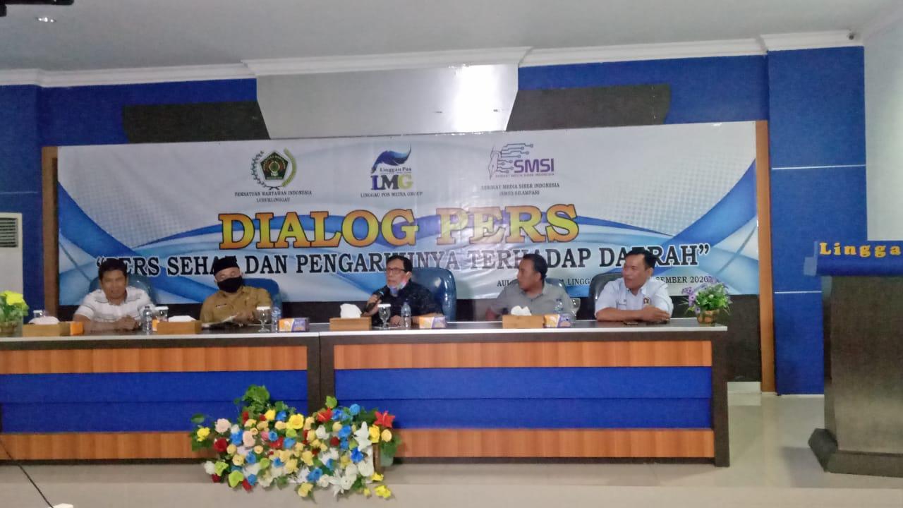 SMSI dan PWI Lubuk Linggau Gelar Dialog Pers