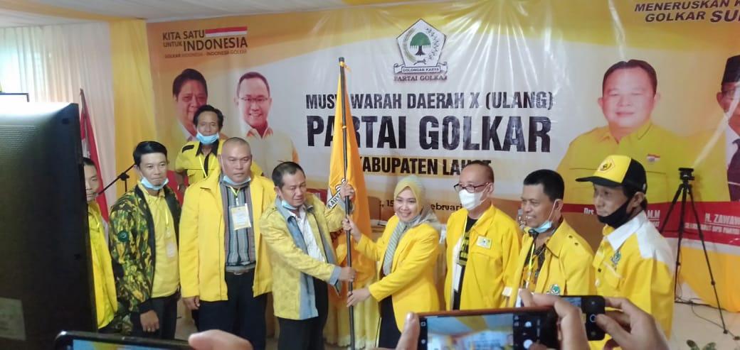 Dodi Reza Ucapkan Selamat Kepada Sri Marhaeni Ketua DPD II Partai Golkar Lahat