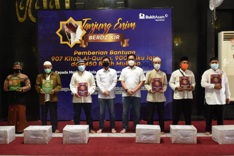"PTBA Bantu Ribuan Sarana Ibadah Di Kegiatan ""Tanjung Enim Berdzikir"""