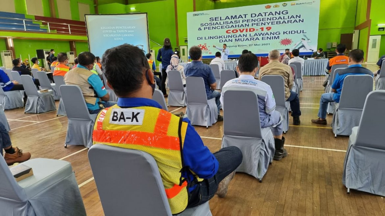 PTBA Gelar Sosialisasi Pengendalian dan Pencegahan Covid-19 Kepada Para Vendor Dan Kontraktor