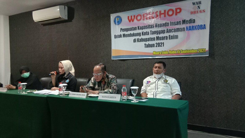 BNNK Muara Enim Gelar Workshop Bersama Jurnalis