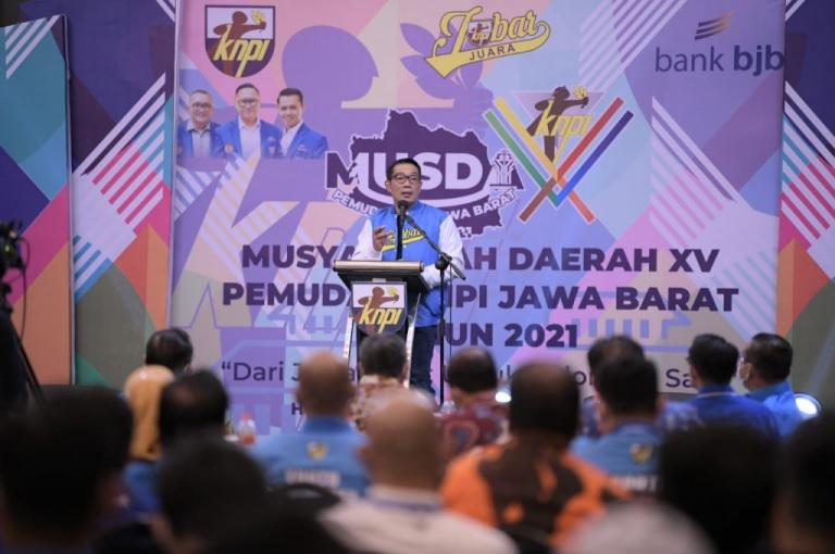 Musda XV KNPI Jabar 2021 Ridwan Kamil: Niatkan Jabatan sebagai Ibadah