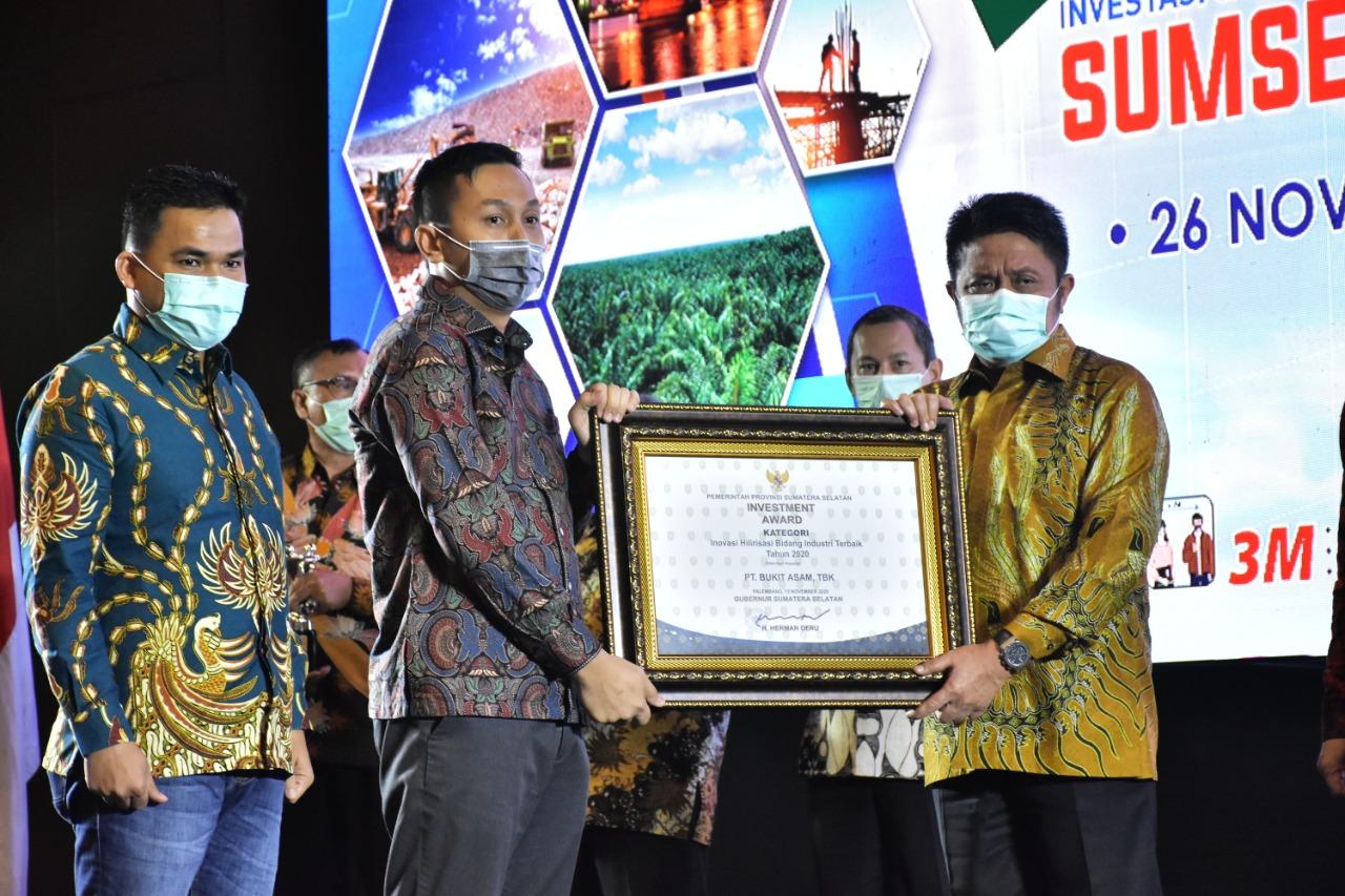 PTBA Juara Investment Award 2020 Pemprov Sumsel