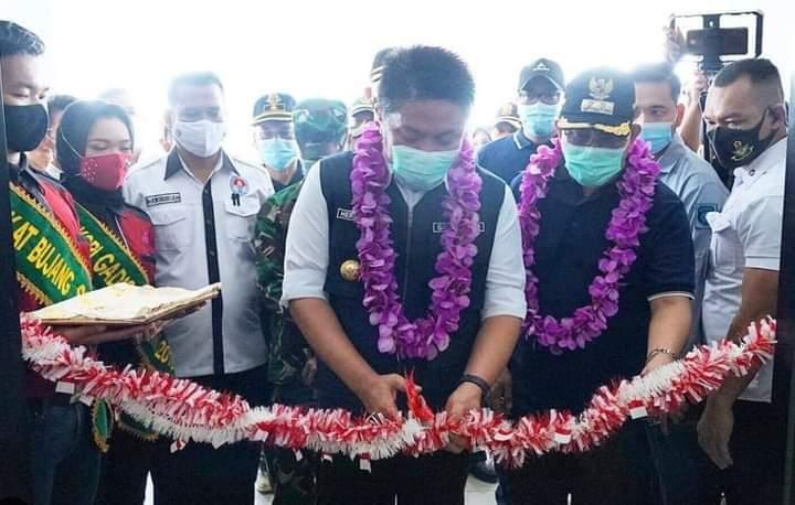 Gubernur Sumsel Resmikan GOR Sepak Takraw Muara Enim