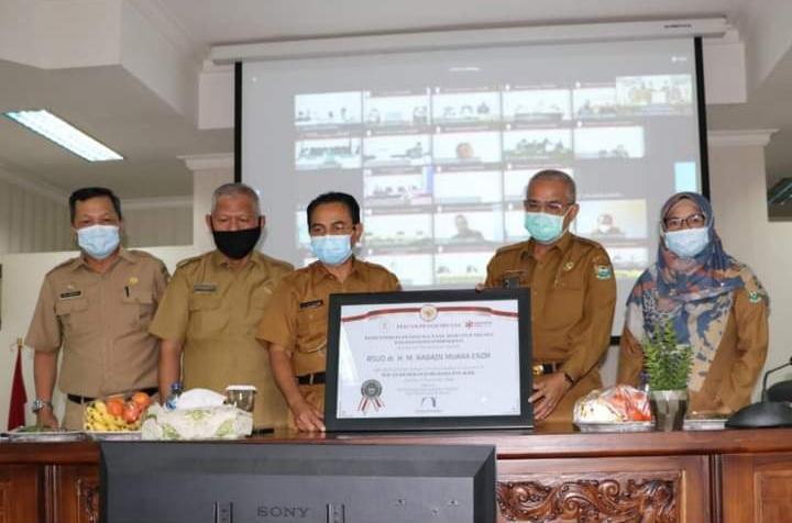RSUD dr. H. M. Rabain Raih Predikat Zona Integritas (ZI) Wilayah Bebas Korupsi (WBK) dari Kementerian (PANRB)