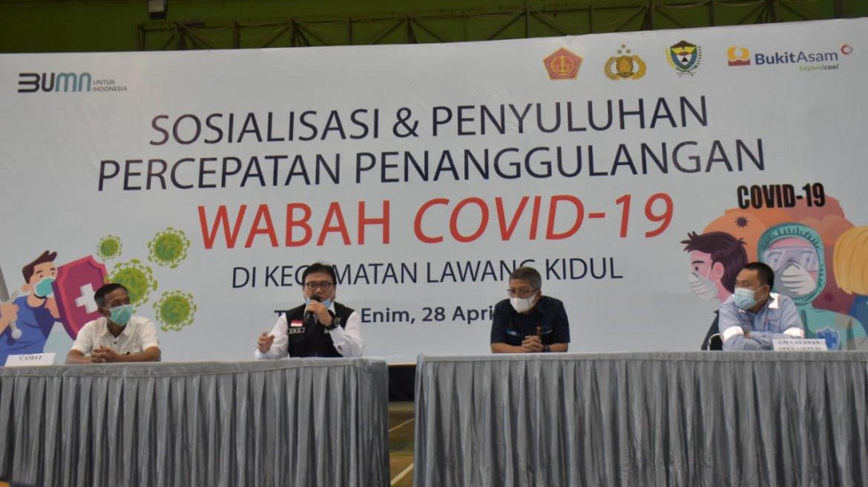 PTBA dan Tripika Lawang Kidul Berkomitmen Terus Lawan Covid-19
