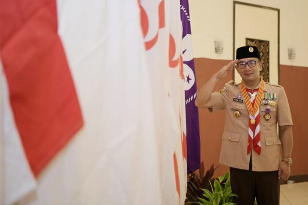 60 Tahun Pramuka Indonesia Ridwan Kamil Disematkan Lencana Karya Bakti