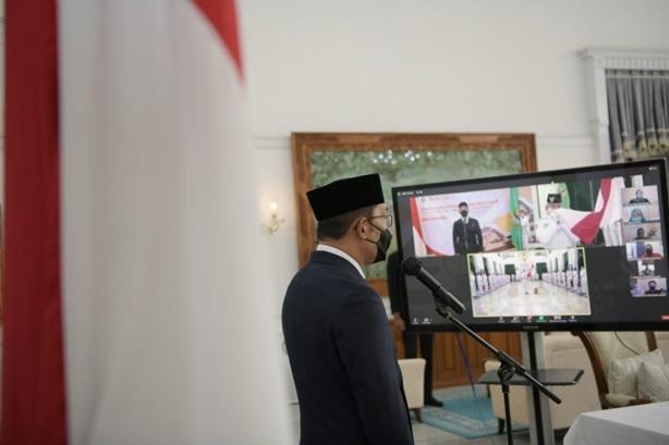 Ridwan Kamil Kukuhkan Anggota Paskibraka Jabar 2021